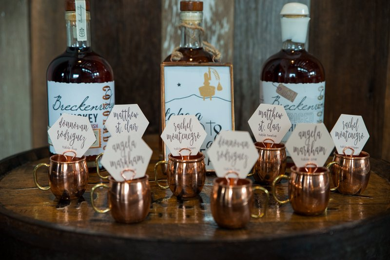 Whisky shot wedding table plan