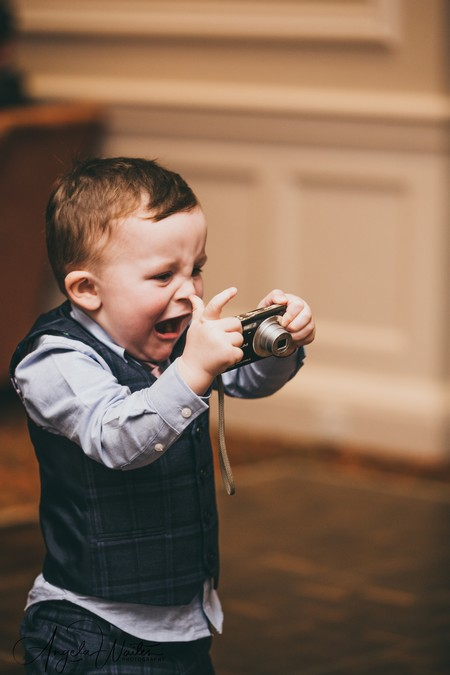 Young pageboy angry with camera - Picture by Angela Waites Photography