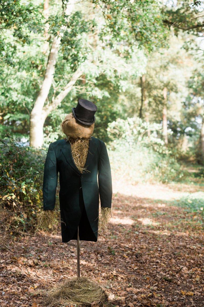 Groom scarecrow
