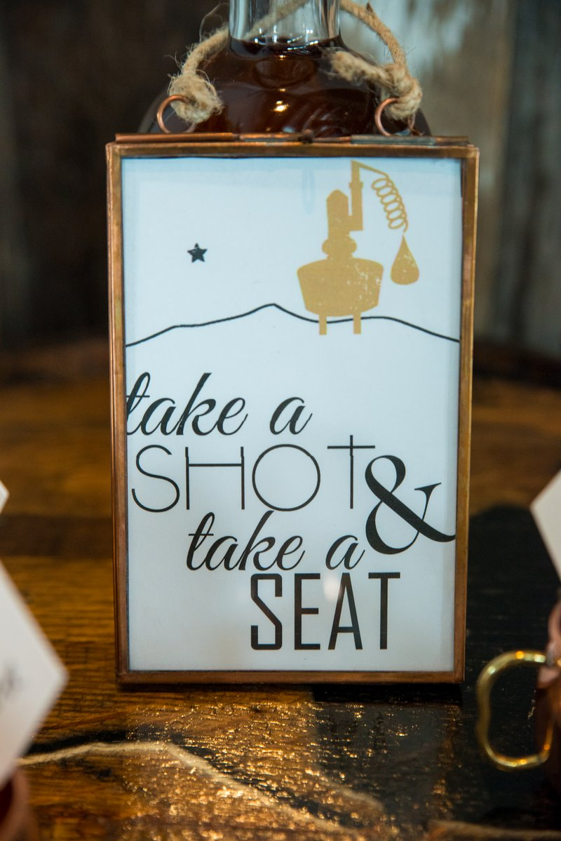 Take a Shot and Take a Seat sign