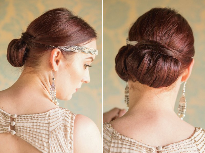 Bridesmaid's updo hairstyle