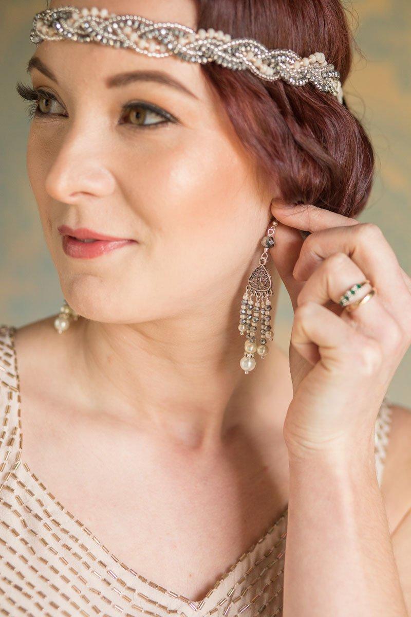 Bridesmaid chandelier earrings