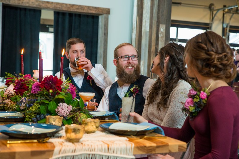 Wedding meal at Breckenridge Distillery
