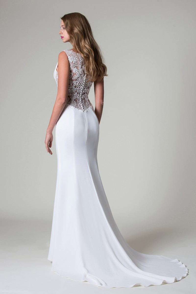 Back of Cassidy Wedding Dress from the MiaMia Beautiful You 2019 Bridal Collection