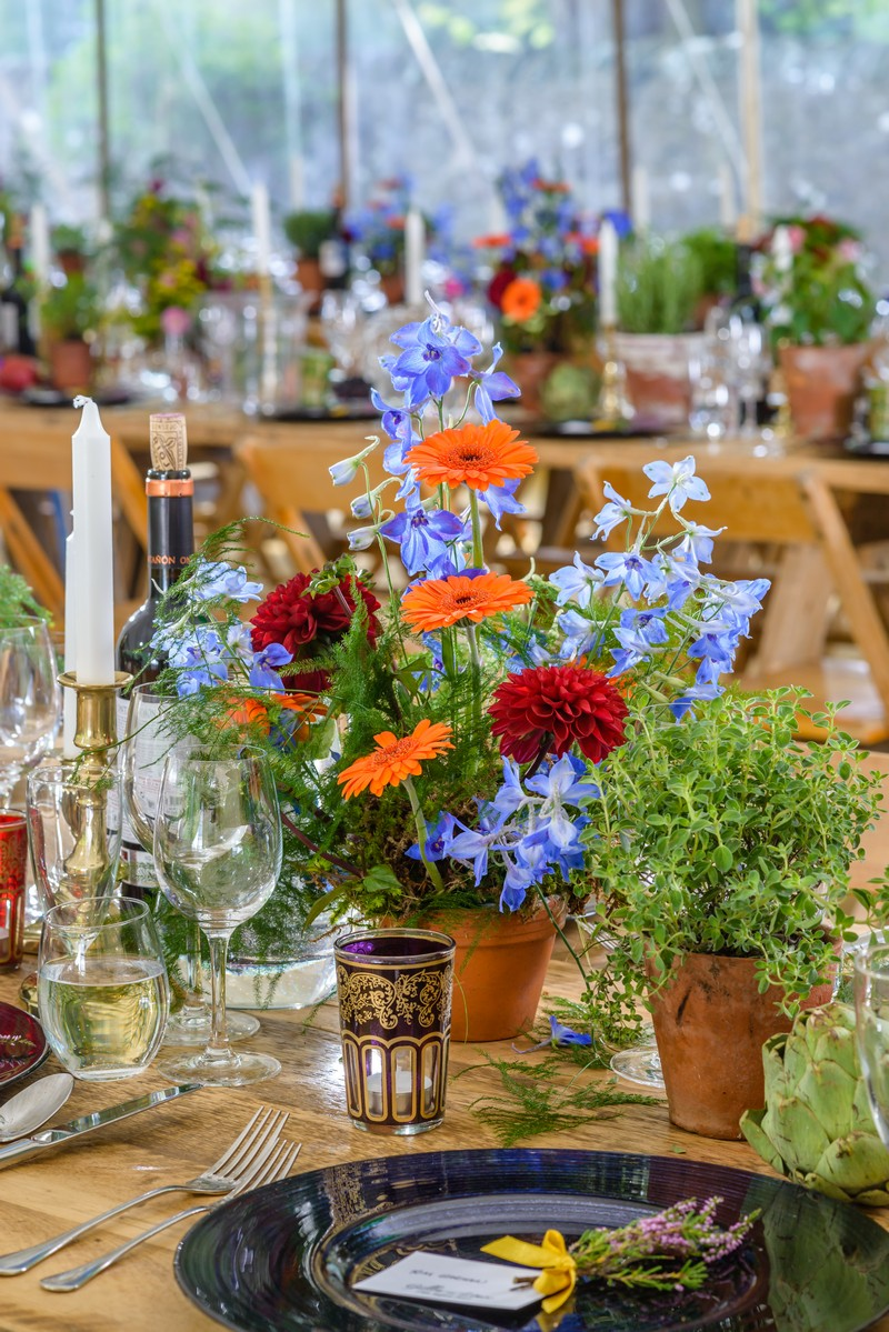 Colourful Homegrown Wedding Flowers