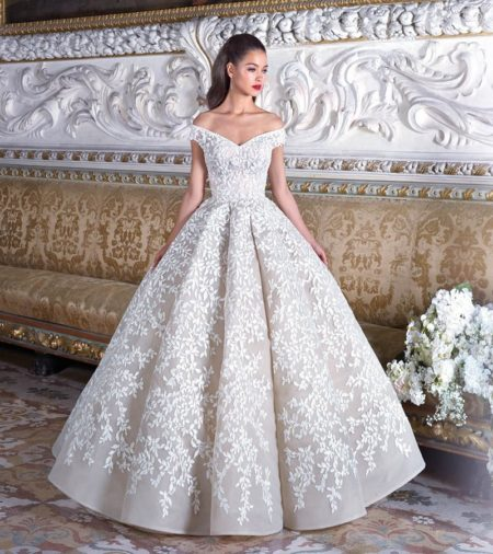 DP375 Marguerite Wedding Dress from the Platinum by Demetrios 2019 Bridal Collection
