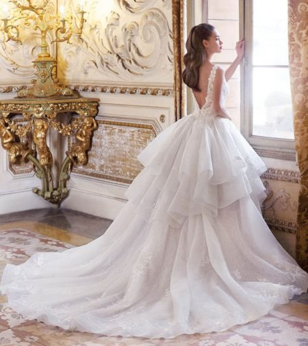 Back of DP376 Lilette Wedding Dress from the Platinum by Demetrios 2019 Bridal Collection