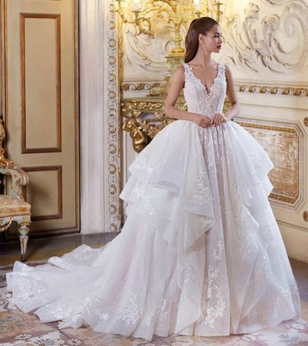 DP376 Lilette Wedding Dress from the Platinum by Demetrios 2019 Bridal Collection
