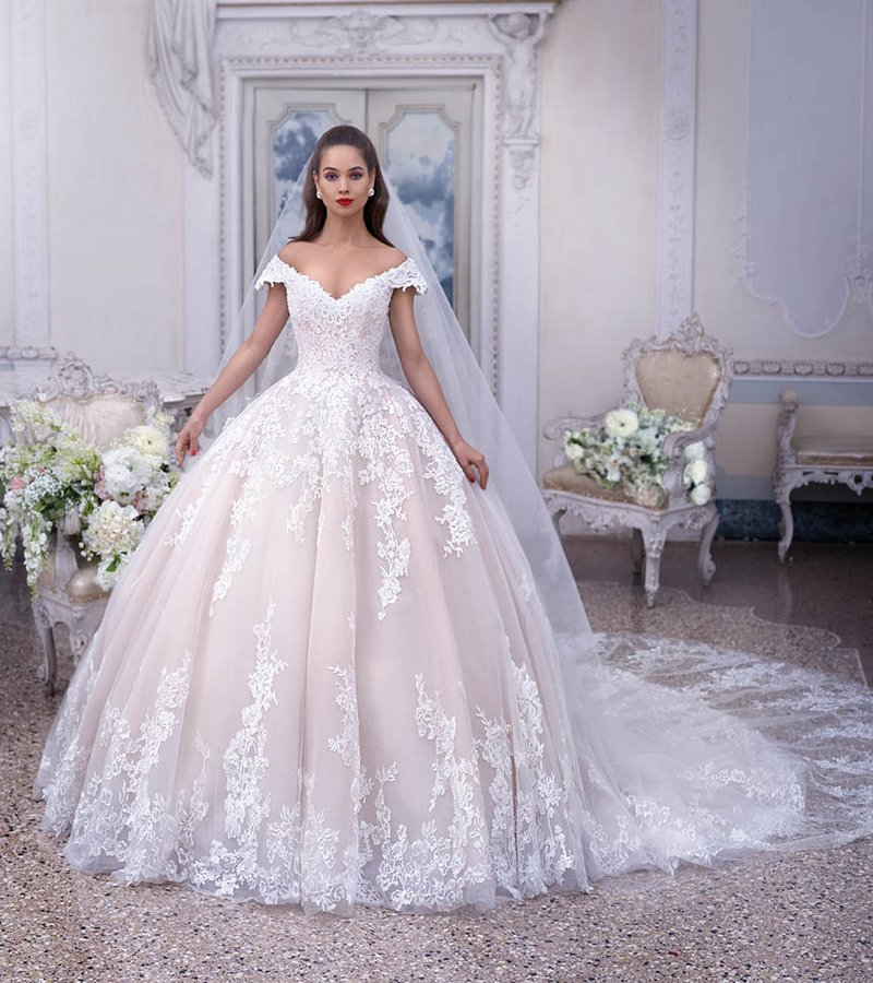 DP377 Odette Wedding Dress from the Platinum by Demetrios 2019 Bridal Collection