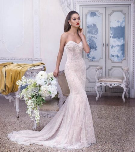 DP378 Delphine Wedding Dress from the Platinum by Demetrios 2019 Bridal Collection
