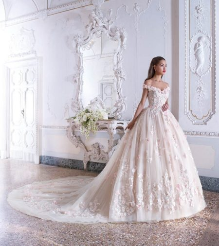 DP379 Chloe Wedding Dress from the Platinum by Demetrios 2019 Bridal Collection