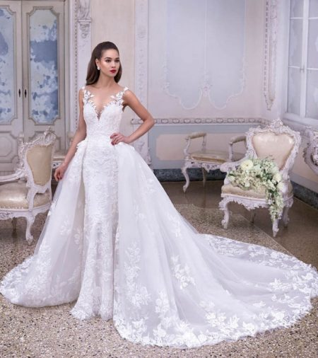 DP380 Colette Wedding Dress from the Platinum by Demetrios Clair de Lune 2019 Bridal Collection