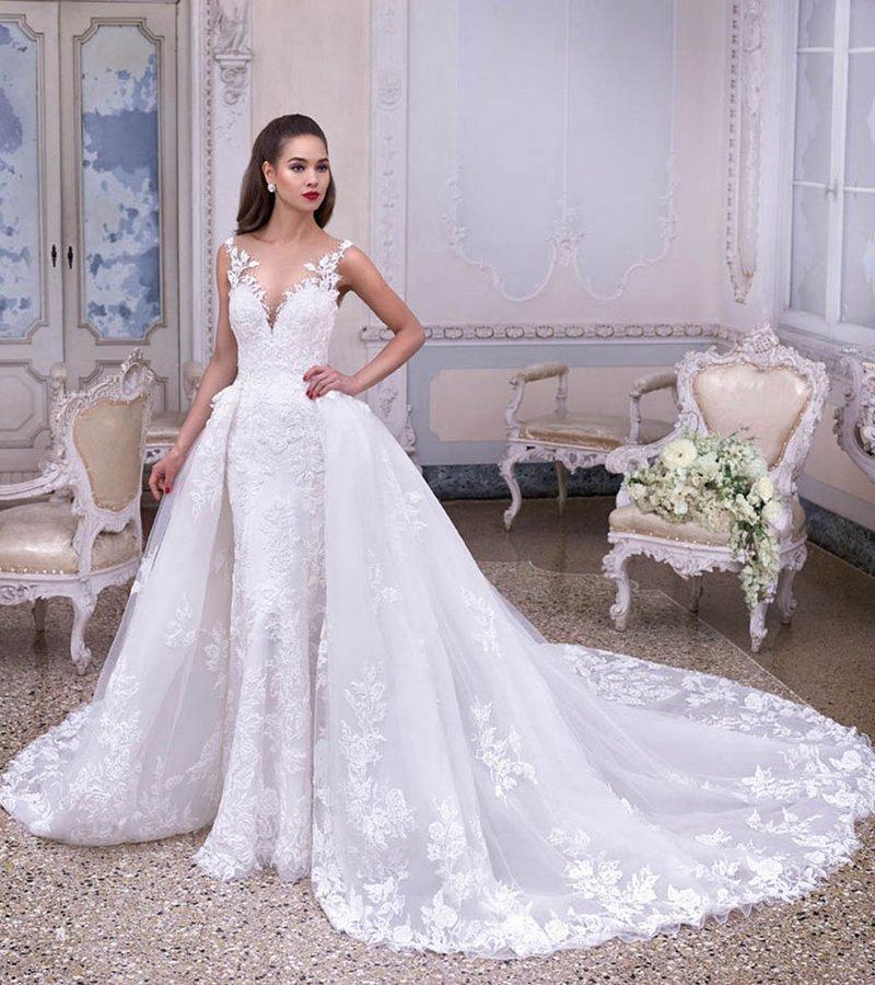 DP380 Colette Wedding Dress from the Platinum by Demetrios Clair de Lune 2019 Bridal Collection