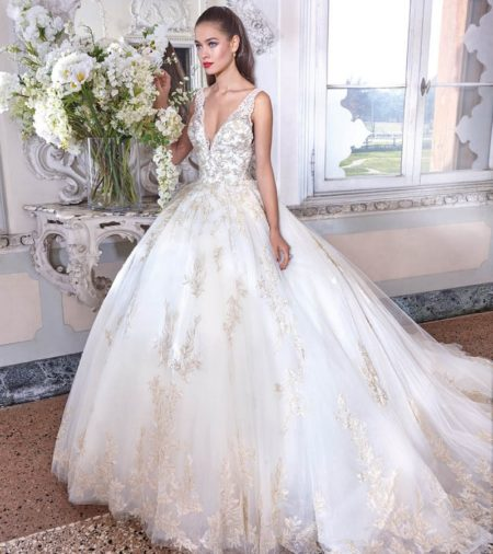DP381 Sophie Wedding Dress from the Platinum by Demetrios 2019 Bridal Collection
