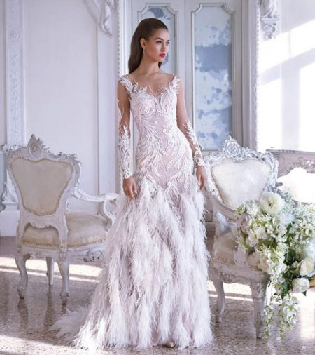 DP382 Estelle Wedding Dress from the Platinum by Demetrios 2019 Bridal Collection