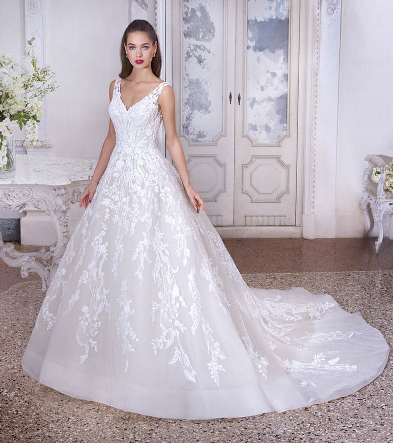 DP384 Nadine Wedding Dress from the Platinum by Demetrios 2019 Bridal Collection