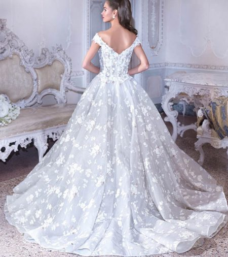 Back of DP385 Belle Wedding Dress from the Platinum by Demetrios 2019 Bridal Collection