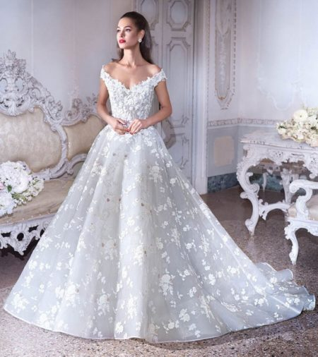 DP385 Belle Wedding Dress from the Platinum by Demetrios 2019 Bridal Collection