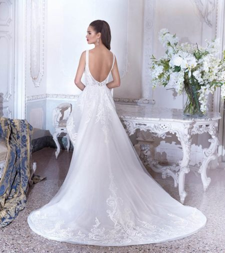 Back of DP386 Maia Wedding Dress from the Platinum by Demetrios 2019 Bridal Collection