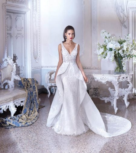 DP386 Maia Wedding Dress from the Platinum by Demetrios Clair de Lune 2019 Bridal Collection