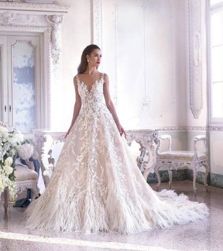 DP387 Fleur Wedding Dress from the Platinum by Demetrios Clair de Lune 2019 Bridal Collection