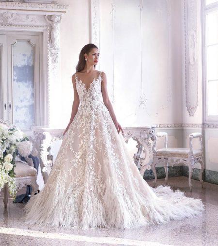 DP387 Fleur Wedding Dress from the Platinum by Demetrios 2019 Bridal Collection