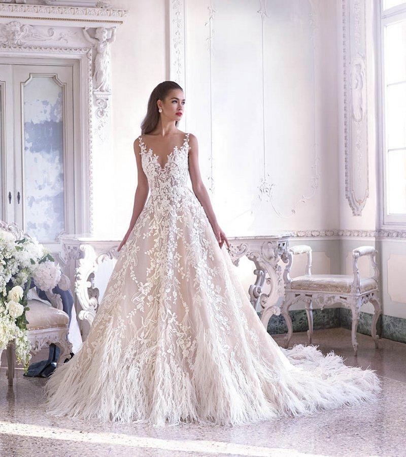 DP387 Fleur Wedding Dress from the Platinum by Demetrios Clair de Lune 2019 Bridal Collection