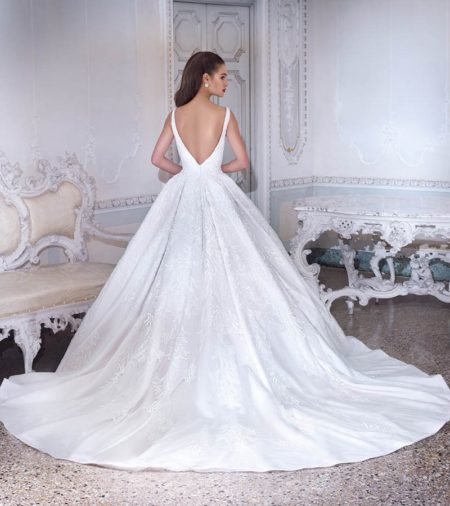 Back of DP388 Esme Wedding Dress from the Platinum by Demetrios 2019 Bridal Collection
