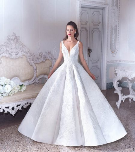 DP388 Esme Wedding Dress from the Platinum by Demetrios Clair de Lune 2019 Bridal Collection