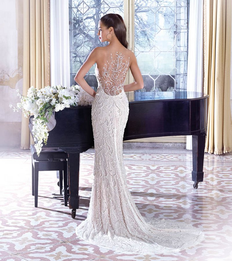 Back of DP389 Vivienne Wedding Dress from the Platinum by Demetrios 2019 Bridal Collection
