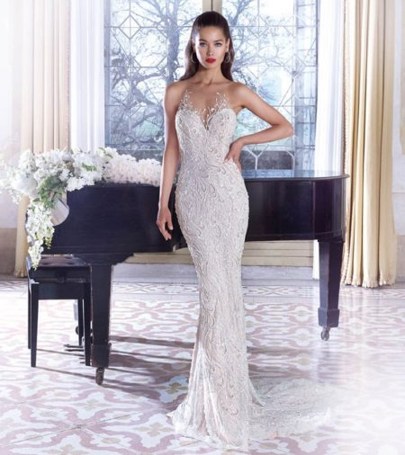 DP389 Vivienne Wedding Dress from the Platinum by Demetrios Clair de Lune 2019 Bridal Collection