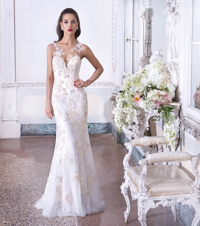 DP391 Valerie Wedding Dress from the Platinum by Demetrios Clair de Lune 2019 Bridal Collection