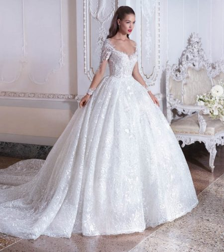 DP392 Celeste Wedding Dress from the Platinum by Demetrios 2019 Bridal Collection