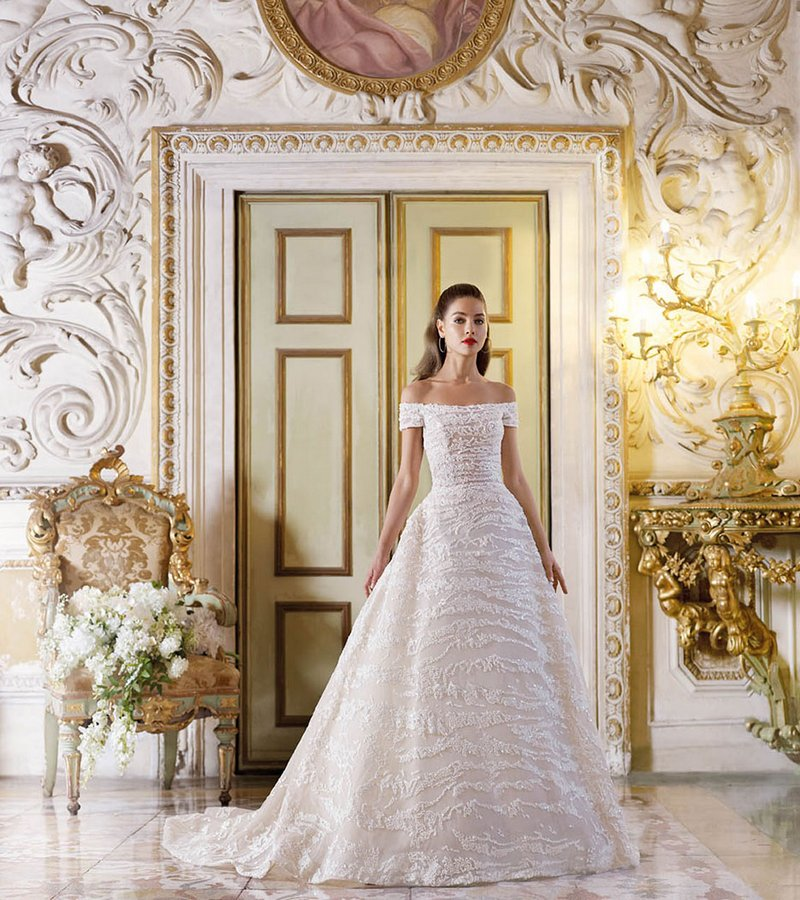 DP393 Giselle Wedding Dress from the Platinum by Demetrios 2019 Bridal Collection