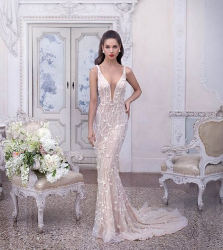 DP395 Madeleine Wedding Dress from the Platinum by Demetrios Clair de Lune 2019 Bridal Collection