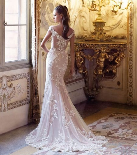 Back of DP396 Brigitte Wedding Dress from the Platinum by Demetrios 2019 Bridal Collection