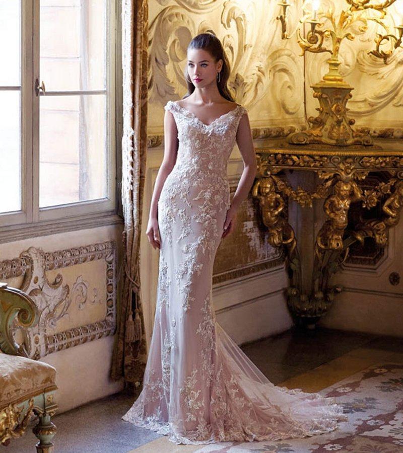 DP396 Brigitte Wedding Dress from the Platinum by Demetrios Clair de Lune 2019 Bridal Collection