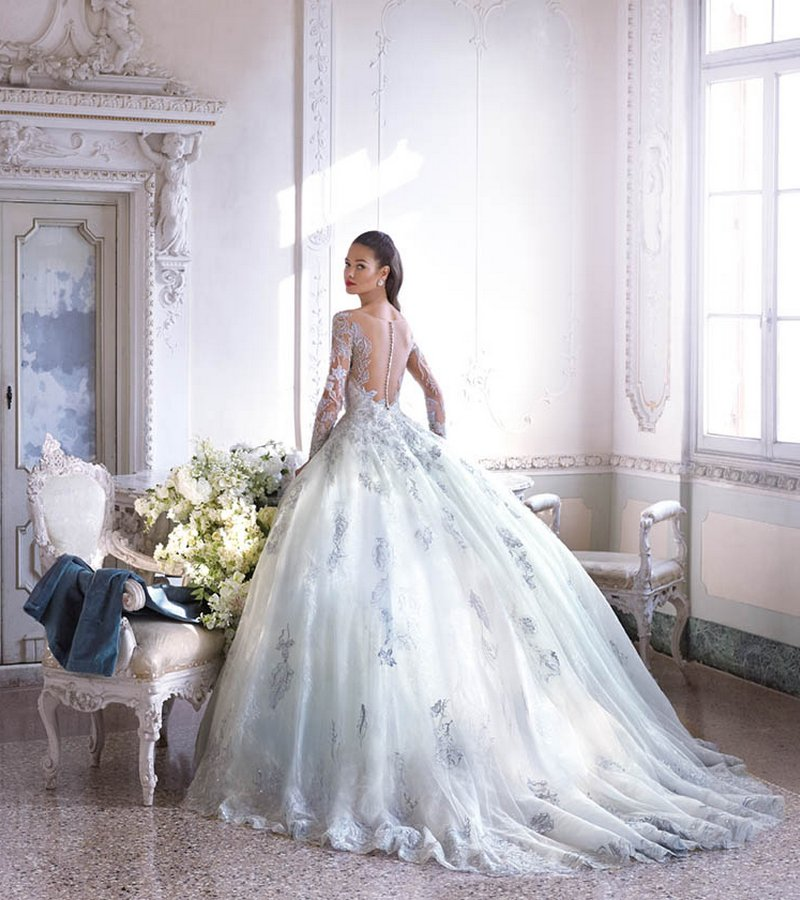 Back of DP397 Jolie Wedding Dress from the Platinum by Demetrios 2019 Bridal Collection
