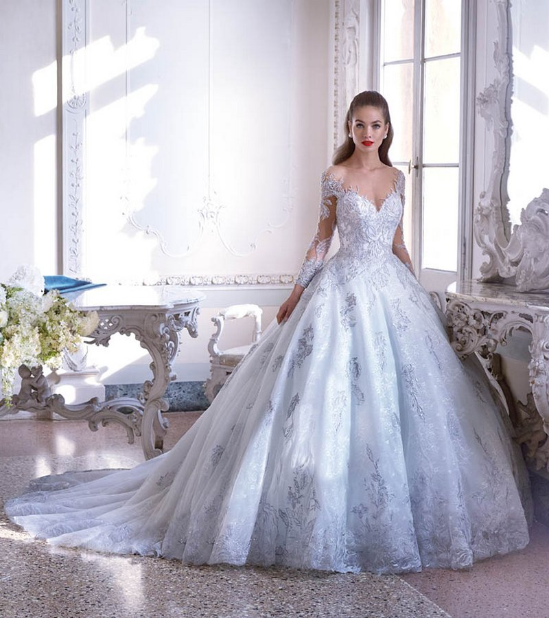 DP397 Jolie Wedding Dress from the Platinum by Demetrios 2019 Bridal Collection