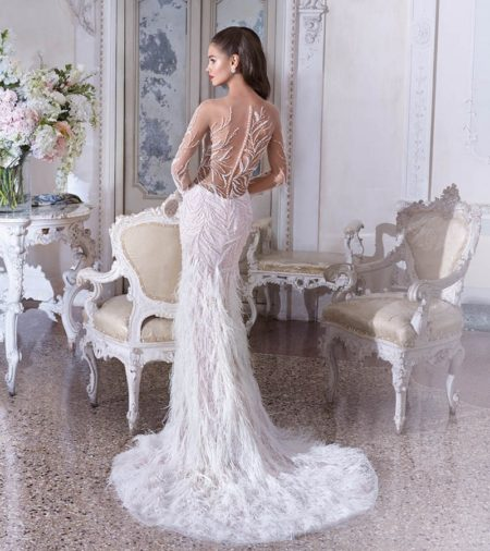 Back of DP398 Roxanne Wedding Dress from the Platinum by Demetrios Clair de Lune 2019 Bridal Collection