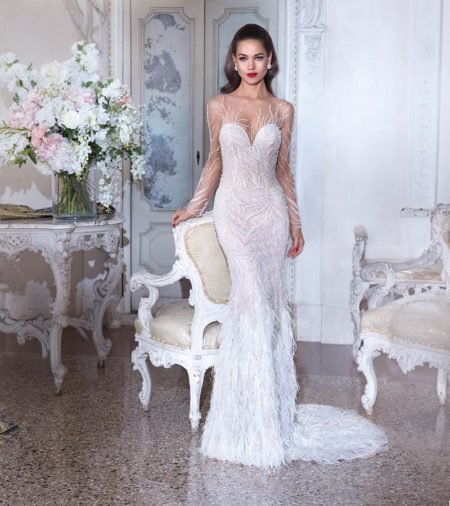 DP398 Roxanne Wedding Dress from the Platinum by Demetrios Clair de Lune 2019 Bridal Collection