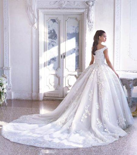Back of DP399 Renee Wedding Dress from the Platinum by Demetrios 2019 Bridal Collection