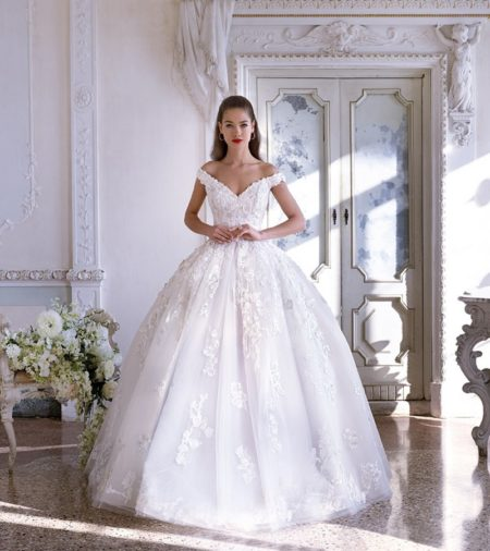DP399 Renee Wedding Dress from the Platinum by Demetrios 2019 Bridal Collection