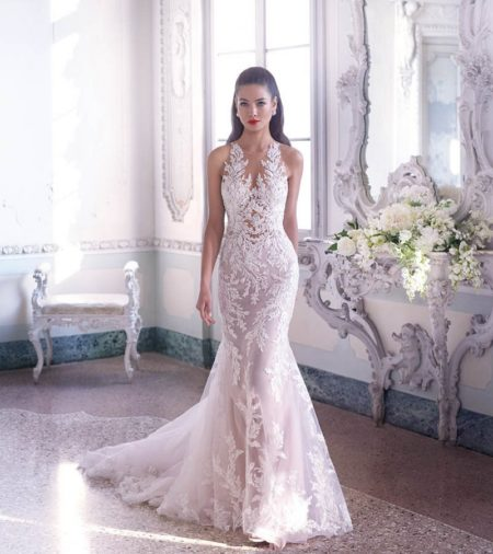 DP400 Louise Wedding Dress from the Platinum by Demetrios 2019 Bridal Collection