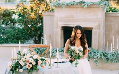 Romantic Soft Mauve and Dusty Blue Wedding Styling