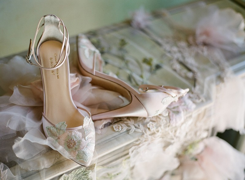 Flora Shoe from the Claire Pettibone for Bella Belle Bridal Shoes
