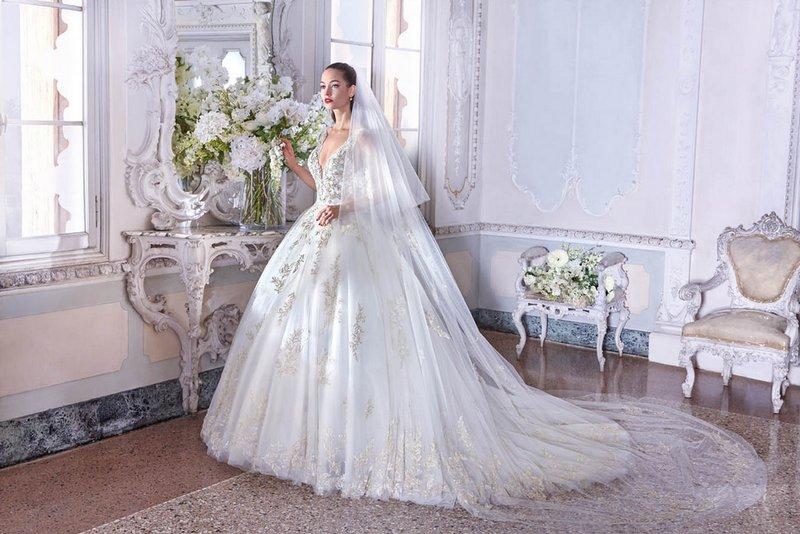 Platinum by Demetrios 2019 Bridal Collection - DP381 Sophie Dress
