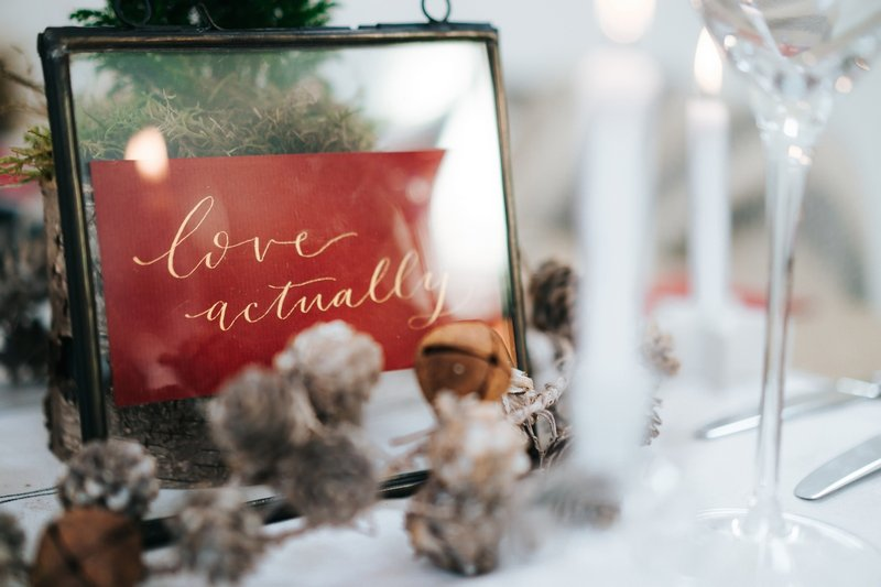 Love Actually wedding table name