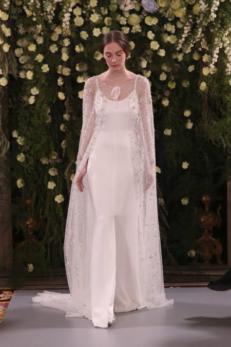 Acacia Slip with Crystal Cape from the Jenny Packham 2019 Bridal Collection