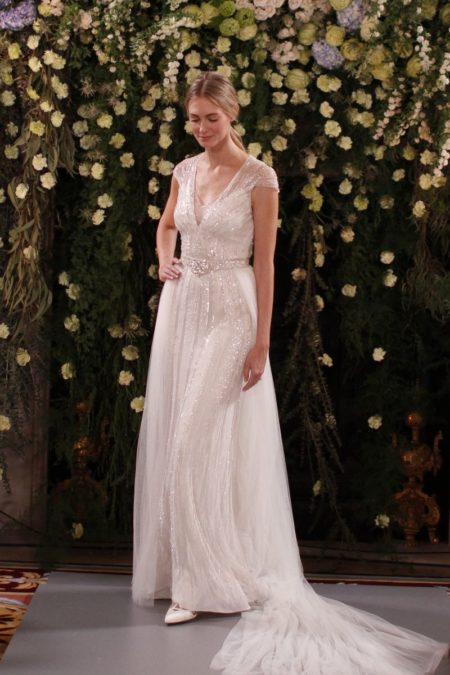 Amber Wedding Dress with Ally Overskirt from the Jenny Packham 2019 Bridal Collection